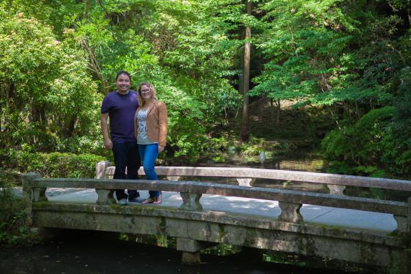 On the bridge at Honen-in