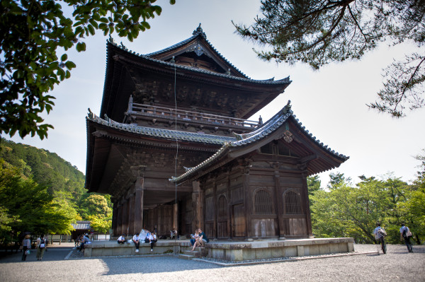 Sanmon (main gate) at Nanzen-ji (we went up onto the second floor)