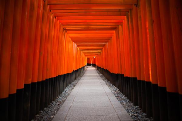 The famous red gates at Fushimi Inari