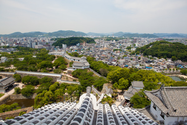 View of Himeji City from the castle