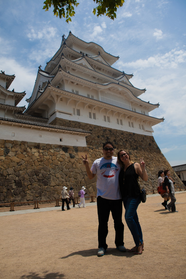We survived all the stairs in Himeji Castle