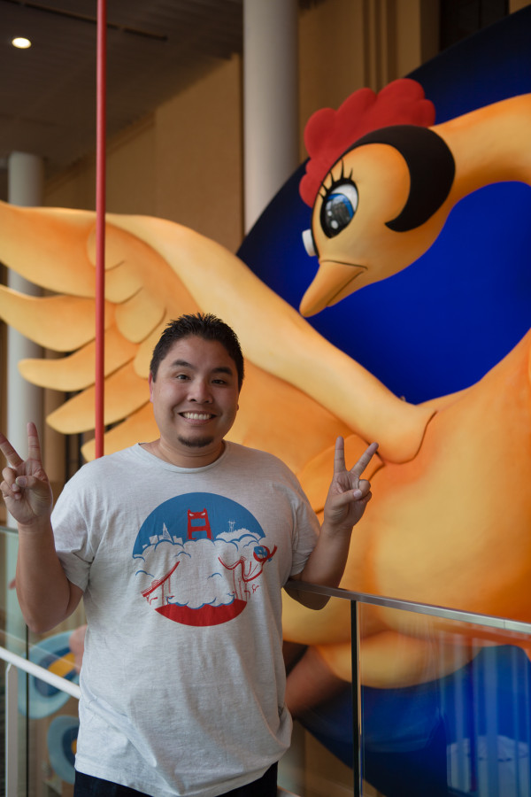 Andrew enjoying the International Manga Museum