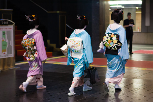 Keiko (Geisha in training) heading to an appointment