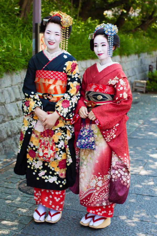 Girls dressed up as Maiko (Geisha in training)