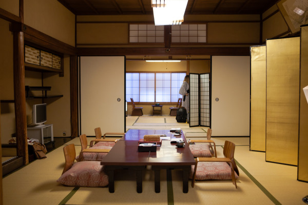 Inside our room at the Ryokan (it's huge!)